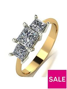 moissanite-9ct-gold-1-carat-eq-moissanite-square-trilogy-ring