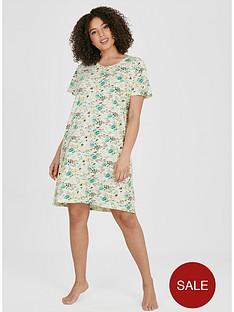 evans-aqua-floral-nightdress