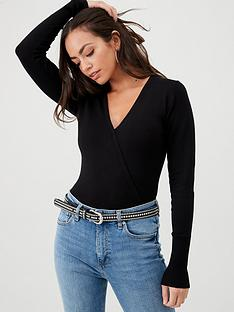 v-by-very-mock-wrap-button-detail-jumper-black