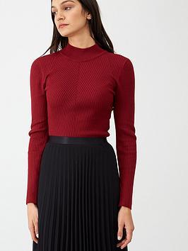 v-by-very-skinny-rib-high-neck-jumper-deep-red