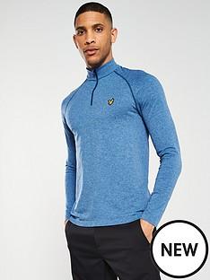 lyle-scott-golf-golf-seamless-midlayer-14-zip-blue