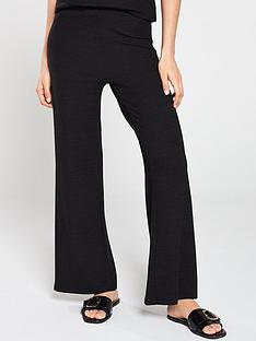 v-by-very-soft-knit-flare-pant-co-ord-black