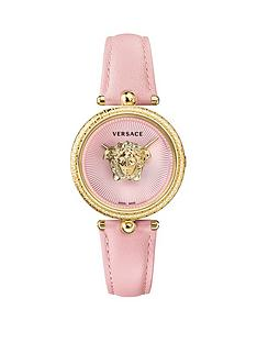 versace-versace-palazzo-empire-pink-sunray-guilloche-and-gold-medusa-34mm-dial-pink-leather-strap-ladies-watch
