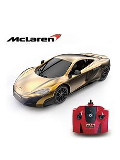 124-scale-mclaren-gold-24ghz-remote-control-car