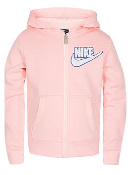 quality products great prices great deals 2017 Nike Girls Fleece Lurex Hoodie - Light Pink | littlewoodsireland.ie