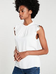 oasis-pleat-neck-casual-shell-top-white