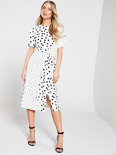 6bb99e4161e68e Oasis Spot Patched Midi Dress