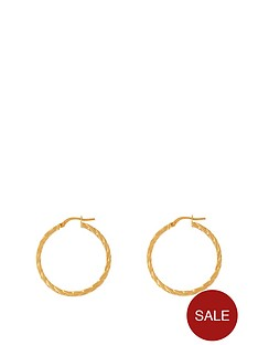 love-gold-9ct-gold-30mm-round-plaited-effect-tube-hoop-earrings