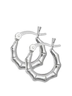 the-love-silver-collection-sterling-silver-bamboo-creole-hoop-earrings