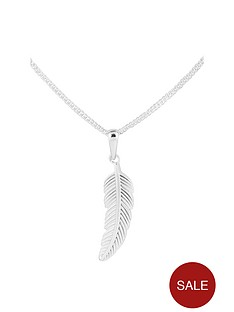 the-love-silver-collection-sterling-silver-leaf-pendant-necklace