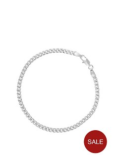 the-love-silver-collection-sterling-silver-classic-rounded-curb-chain-bracelet