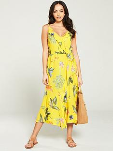 warehouse-isabella-floral-midi-dress-yellow