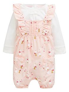 5cdb65a59399 Baker by Ted Baker Baby Girls 2 Piece Bunnies Romper And T-Shirt Set - Pink