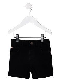 river-island-mini-mini-boys-dylan-denim-shorts-black