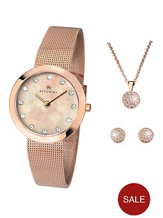 accurist-accurist-blush-mother-of-pearl-and-crystal-set-dial-rose-gold-stainless-steel-mesh-strap-ladies-watch-with-rose-gold-necklace-and-earrings-gift-set