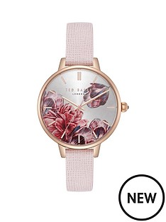 ted-baker-ted-baker-silver-and-rose-gold-detail-floral-dial-pink-leather-strap-ladies-watch