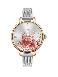 ted-baker-ted-baker-silver-and-gold-detail-floral-dial-stainless-steel-mesh-strap-ladies-watch