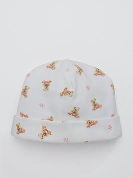 99788a035e2e7 Ralph Lauren Baby Girls Bear Print Hat