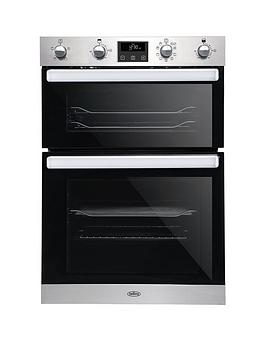 belling-bel-bi902mfct-90cm-built-in-electric-double-oven-with-bluetooth-connectivity-stainless-steel