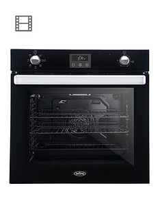 belling-bel-bi602fp-60cm-built-in-equiflow-single-electric-oven-black