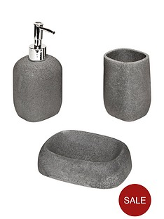 aqualona-grey-stone-3-piece-bathroom-accessory-set