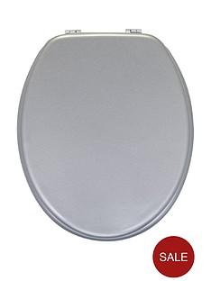 aqualona-silver-effect-mdf-toilet-seat