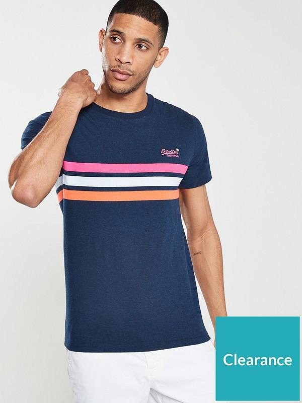 Superdry Orange Label Chestband Stripe T-Shirt