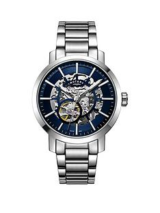 rotary-rotary-greenwich-silver-and-blue-detail-skeleton-dial-stainless-steel-bracelet-mens-watch