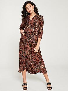 whistles-brushed-leopard-shirt-dress-brown-multi