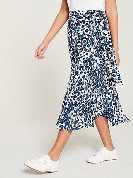 whistles-brushed-leopard-wrap-skirt-blue-multi