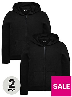 v-by-very-unisex-2-pack-basic-hoodies-black