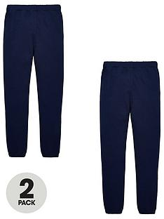 v-by-very-unisex-2-pack-basic-jogging-bottoms-navy