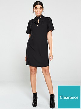 v-by-very-eyelet-tunic-dress-black