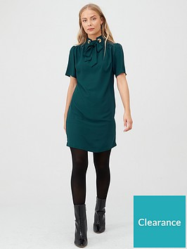 v-by-very-eyelet-tunic-dress-green