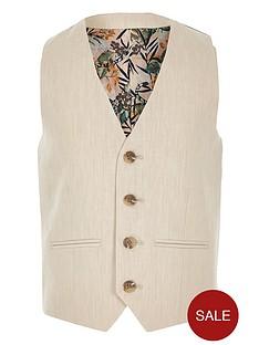 river-island-boys-linen-suit-waistcoat-cream