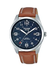pulsar-pular-solar-blue-date-dial-brown-leather-strap-mens-watch