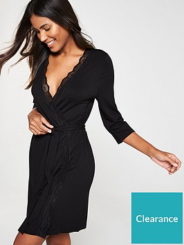 v-by-very-jersey-lace-trim-robe-black