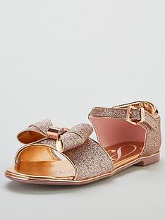 34d4e95cb6ac72 Baker by Ted Baker Toddler Glitter Bow Sandals - Gold