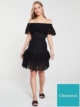 v-by-very-tiered-broderienbspbardotnbspdress-black