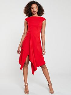 v-by-very-riviera-draped-asymmetric-hem-prom-dress-red