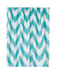 croydex-chevron-textile-shower-curtain--nbspaqua