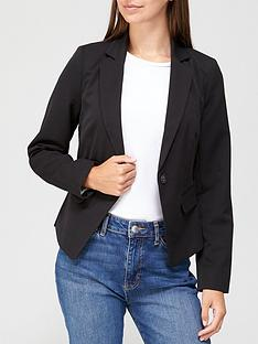 v-by-very-short-core-blazer-black