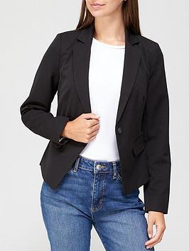 v-by-very-short-core-blazer-black
