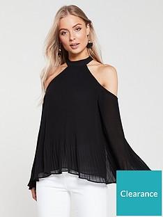 v-by-very-cold-shoulder-plissenbsptop-black