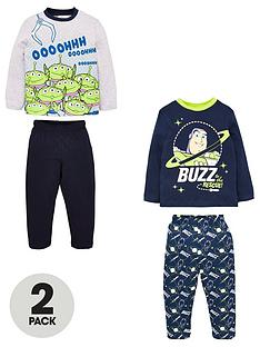 toy-story-boys-2-packnbspbuzz-amp-alien-long-sleeved-pjs-multi
