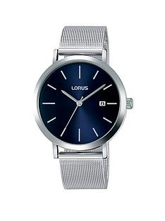 lorus-lorus-blue-sunray-date-dial-stainless-steel-mesh-strap-mens-watch