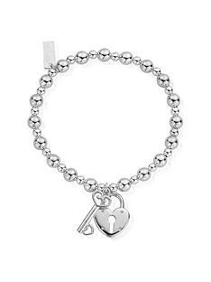 chlobo-chlobo-sterling-silver-mini-small-ball-lock-and-key-bracelet
