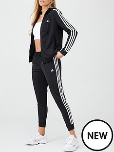 adidas-3-stripe-tracksuit-blacknbsp