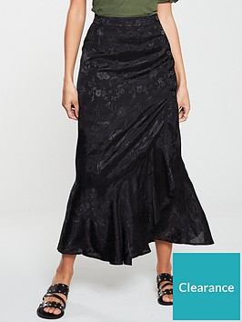 v-by-very-jacquard-wrap-skirt-black