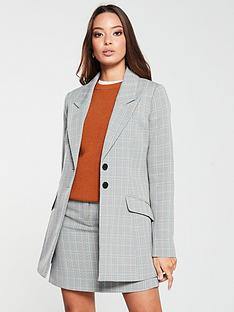 v-by-very-gingham-longlinenbspblazer-checknbsp